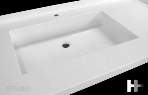 Firkantet Corian Handvask Model Fp50