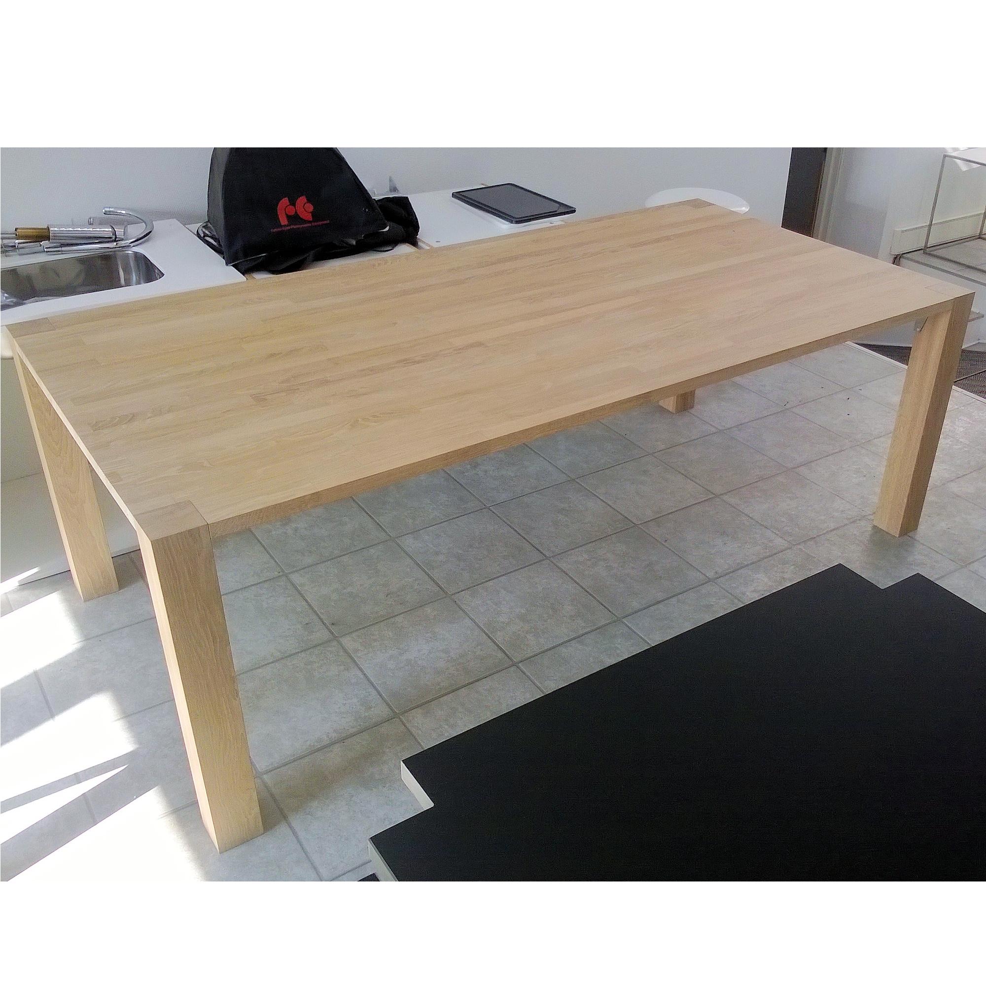 SOLGT - Spisebord, Massivt egetræ 212 x 106 x 74cm - SOLGT